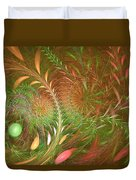 Fall Fractal Fields Duvet Cover