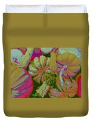 Fall Gourds Pinked Duvet Cover