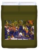 Fall Grape Harvest Duvet Cover
