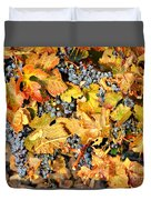 Fall Grapes Duvet Cover
