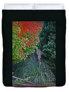 Fall Grass Duvet Cover