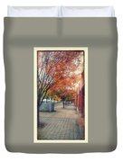 Fall In Downtown Vancouver Washington Duvet Cover