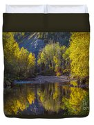 Autumn Reflections In Fort Mcmurray Duvet Cover