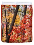 Fall In The Forest Duvet Cover