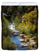 Fall In The Mountains Duvet Cover
