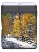 Fall Into Beartrap Meadow - Casper Mountain - Casper Wyoming Duvet Cover