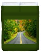 Fall Is Coming Country Road Duvet Cover