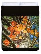 Fall Ivy On Pine Tree Duvet Cover