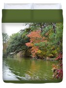 Fall Landscape Around The Lake 2 Duvet Cover
