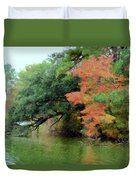 Fall Landscape Around The Lake 5 Duvet Cover