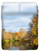 Fall Landscape At Buck Creek Duvet Cover by Parker Cunningham