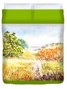 Fall Landscape Briones Park California Duvet Cover
