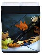 Fall Leaves On A Car Duvet Cover