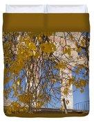 Fall Leaves On Open Windows Jerome Duvet Cover