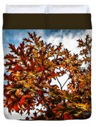 Fall Maple Leaves Duvet Cover