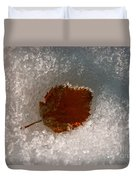 Fall Meets Winter Duvet Cover