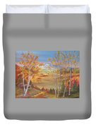 Fall Mountain Path Duvet Cover