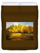 Fall Near Lake City Duvet Cover