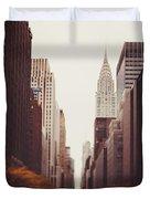 Fall On 42nd Street Duvet Cover