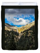 Fall On Red Mountain Pass Duvet Cover