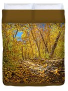 Fall On The Forest Floor Duvet Cover