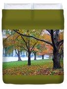 fall on the Potomac River Duvet Cover