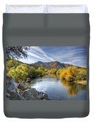 Fall On The Salt River  Duvet Cover