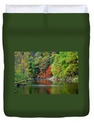 Fall Painting Duvet Cover by Frozen in Time Fine Art Photography
