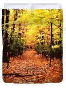 Fall Path Duvet Cover