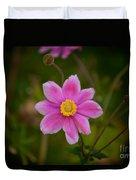 Fall Pink Daisy Duvet Cover