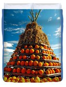 Fall Pumpkins Duvet Cover