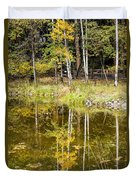 Fall Reflection In Yosemite 2 Duvet Cover