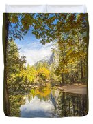 Fall Reflection In Yosemite Duvet Cover