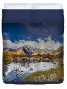 Fall Reflection Pond Duvet Cover
