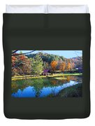 Fall Reflections At The Farm  Duvet Cover