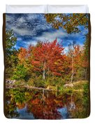 Fall Reflections In Maine Img 6312 Duvet Cover
