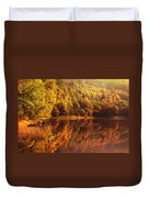 Fall Reflections. Loch Achray. Scotland Duvet Cover