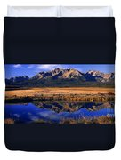 Fall Reflections Sawtooth Mountains Idaho Duvet Cover