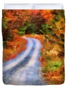 Fall Road To Paradise Duvet Cover