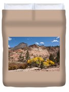 Fall Season At Zion National Park Duvet Cover