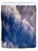 Fall Streak Clouds 5 Duvet Cover