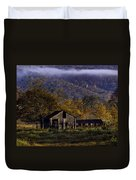 Fall Sunrise Old Barn At 21/43 Intersection Duvet Cover