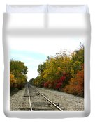 Fall Tracks Duvet Cover