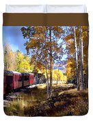 Fall Train Ride New Mexico Duvet Cover