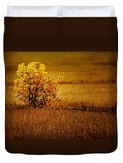 Fall Tree And Field #2 Duvet Cover