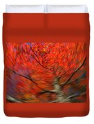 Fall Tree Carousel Duvet Cover by Juergen Roth