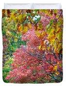 Fall Tree Leaves Duvet Cover