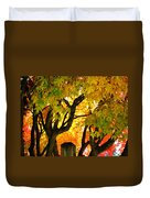 Fall Trees On A Country Road 3 Duvet Cover