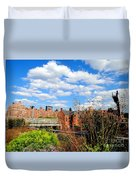 Fall Walk On The High Line Duvet Cover
