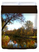 Fall Water Reflections Duvet Cover
